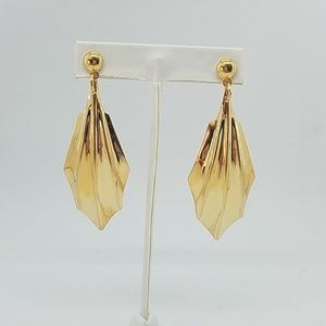 GOLD CLAW dome EARRINGS NEW
